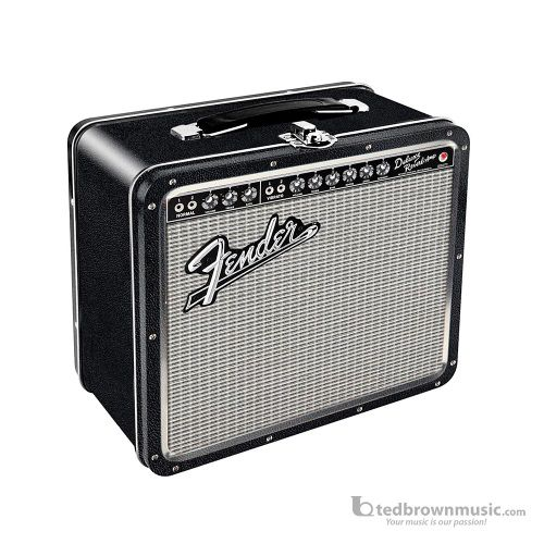 Fender Black Tolex Metal Lunch Box