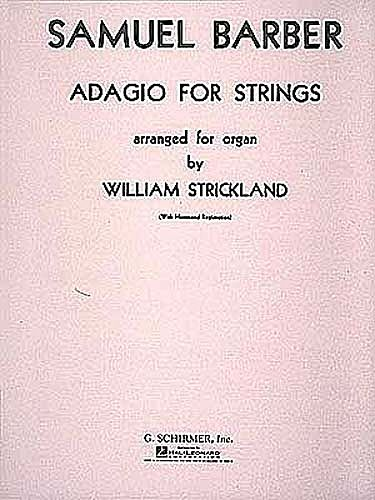 Adagio for Strings Op 11 for Organ