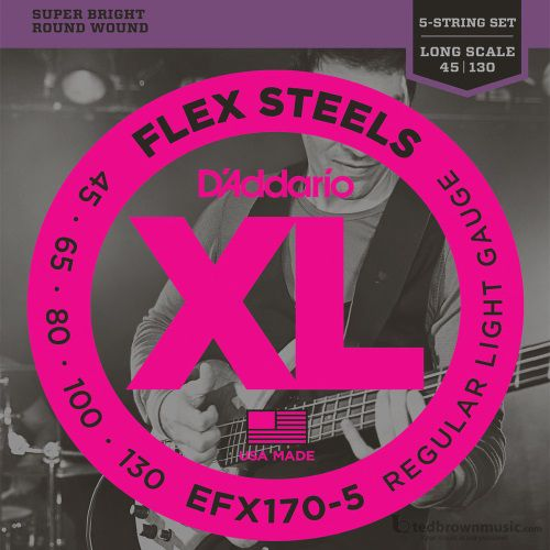D'Addario Strings Bass Half Round Regular Light EFX170-5