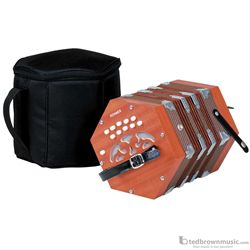 Hohner D40 Concertina with Padded Bag