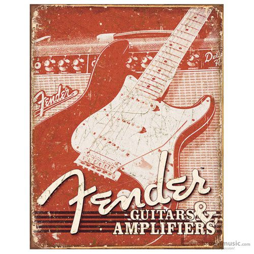 "Fender Sign Collectible ""Weathered"" Tin 999548000"