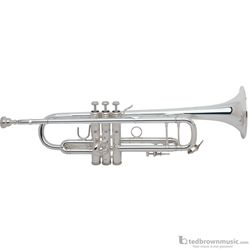 Bach 180S37 Stradivarius Series Bb Trumpet Silver with  #37 Hand Hammered Bell