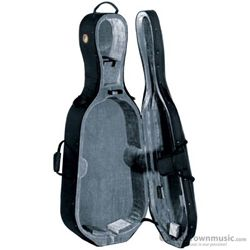 Travelite TL20-4/4 4/4 Deluxe Bowed Cello Case with Wheels