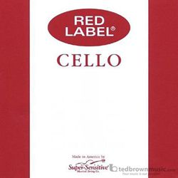 Super Sensitive 4RLCS Red Label Cello String Set