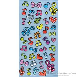 Music Treasures Stickers Glitter Notes 332308