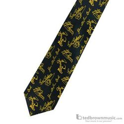 "Chesbro Neck Tie ""Composers"" Black Silk Blend 1375"