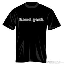 "Music Treasures 100274 ""Band Geek"" Black T-Shirt"
