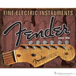 "Fender Sign Collectible ""Headstock"" Tin 099-954"