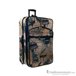 "Aim Gifts Suitcase Piano Tapestry 20"" with Wheels 49575"