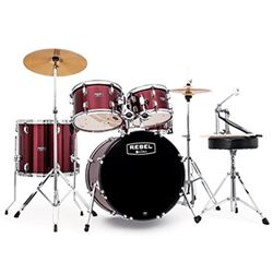 Mapex Rebel Series Acoustic 5 Piece Set  with Hardware & Throne
