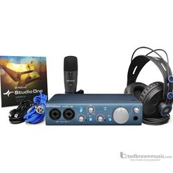 Presonus Recording Package Audiobox iTwo Studio, I/O, software, mic, headphones and cables