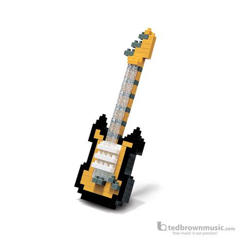 Nano Blocks 58111 Micro-Sized Gold Electric Guitar