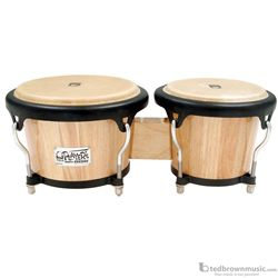 "Toca 2400N 5.5"" & 7"" Players Series Bongo Set Natural Finish"