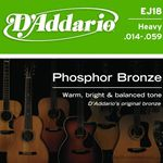 D'Addario Strings Guitar Phosphor Bronze Heavy EJ18
