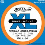 D'Addario Strings Guitar Extra Regular Light EXL110-7