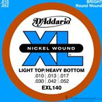 D'Addario Strings Guitar Extra Light Heavy Bottom EXL140