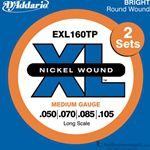 D'Addario Strings Bass Extra Light Twin Pack EXL160TP