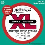 D'Addario Strings Guitar Baritone Nickel Wound Medium XL157