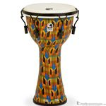 "Toca Djembe Freestyle Series Kente Cloth Mechanically Tuned 9"" SFDMX9K"