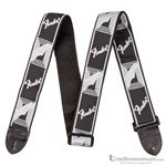 "Fender Guitar Strap 2"" Monogrammed  Black, Light Grey & Dark Grey 0990681543"
