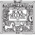Ernie Ball String Guitar 2nd Nylon Black 1512