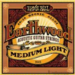 Ernie Ball Strings Guitar Earthwood Mediium Light EARTH2003