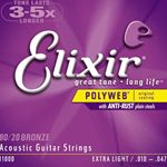 Elixer String Guitar 80/20 Gore Extra Light11000