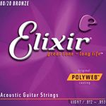 Elixer String Guitar 80/20 Gore Light 11050