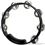 "True Colors Tambourine Nickel Jingles Black 8"" TC4018"