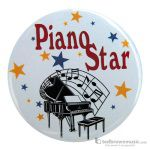 "Music Treasures Button ""Piano Star"" 721148"