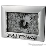 Aim Gifts Picture Frame Music & Silver Rhinestones 45648