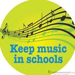 "Music Treasures Button ""Keep Music In Schools"" 721159"