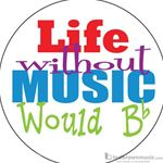 "Music Treasures Button ""Life Without Music"" 721160"