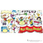 "Music Treasures Bulletin Board Set ""Our Classroom Rocks"""