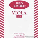 Super Sensitive 4RLLS Red Label Viola String Set