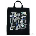"Aim Gifts Tote Bag Musical Crossword 15"" X 19"" 2368"