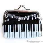 Music Treasures Coin Purse Keyboard Design with Snap Close 450145