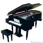 Music Treasures Miniature Piano with Stool & Case 400020