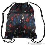 Aim Gifts Tote Bag Satin Sling Bag with Multi-Colored Notes 49518