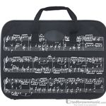 Aim Gifts Briefcase Sheet Music Black & White Nylon 9699