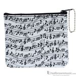 "Aim Gifts Coin Purse ""Music Notes"" 450164"