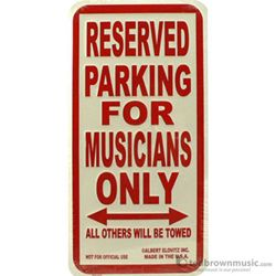 "Aim Gifts Sign ""Reserved Parking for Musicians Only"" Metal 26000"