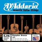 D'Addario Strings Guitar Phosphor Bronze Light EJ16