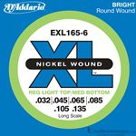 D'Addario Strings Bass Bright Long EXL165-6