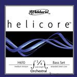 D'Addario Strings Helicore Bass Set 3/4 Medium Tension H610-3/4