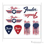 Fender Stickers Collectible American Flag