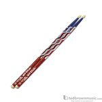 Hot Sticks 5BN Macrolus Foil American Flag Hickory Drumsticks