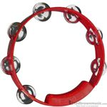 True Colors Tambourine Nickel Jingles Red TC4038