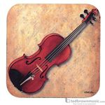 Aim Gifts Coaster Violin & Sheet Music Square Shaped 29891