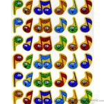 "Music Treasures Stickers ""Merry Music"" 72 Pack"